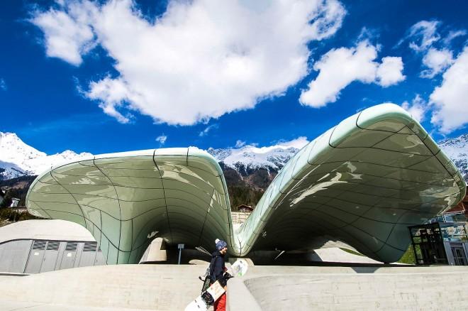 Funicolare della Nordkette. Stazione Hungeburg progetto dell'architetto Zaha Hadid