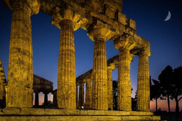 Tempio di Atena, Paestum, Cilento, Italia