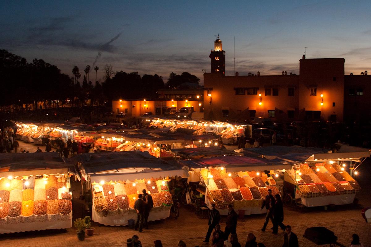 Marocco Marrachek Jemaa el Fna square