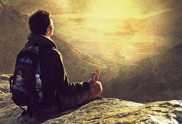 meditare in montagna