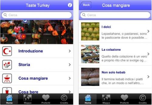 Taste Turkey app viaggiare Turchia turismo enogastronomico