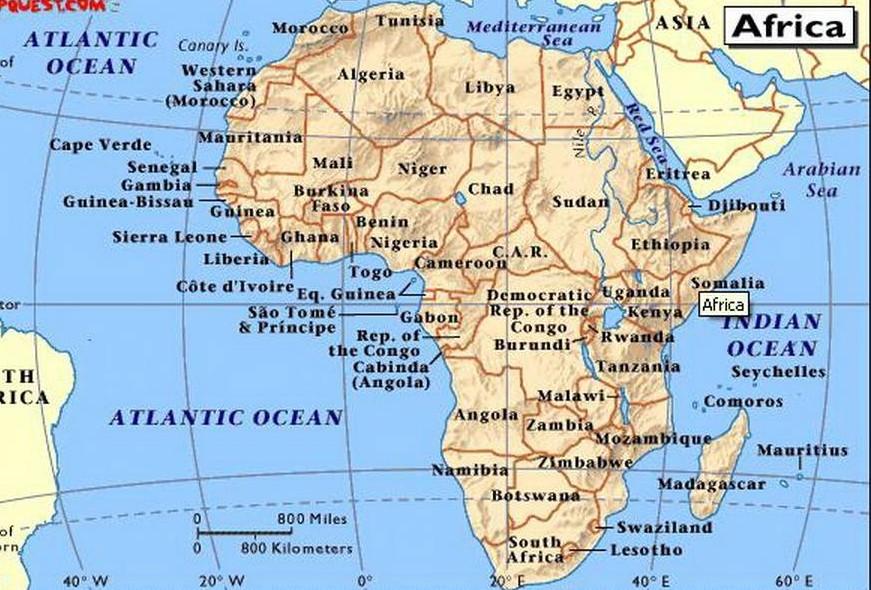 Africa Immagini Cartina.Africa Cartina Geo Latitudes