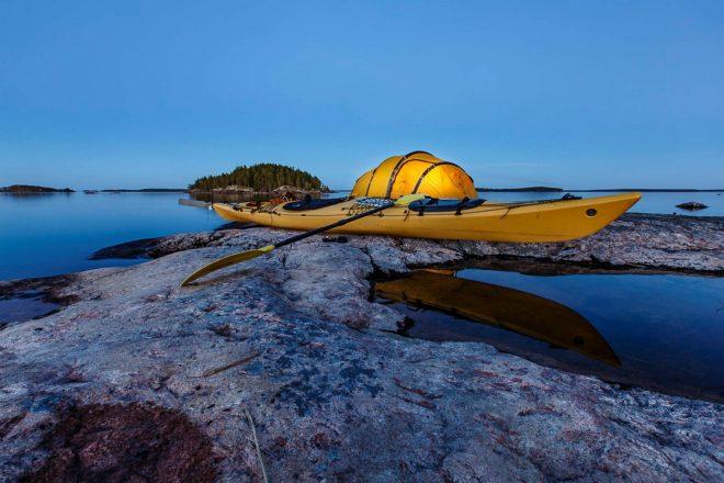 5- Canoa sul lago saimaa