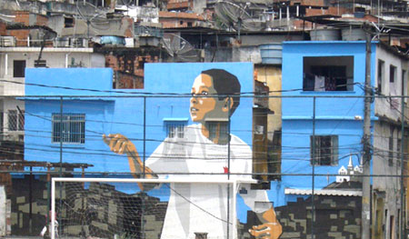 boy with kite Favela Painting Project