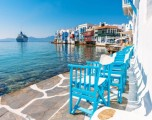 Mykonos. Weekend bianco e blu