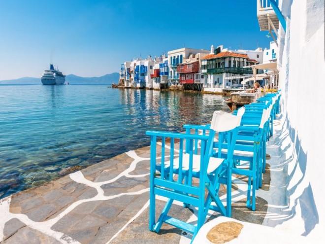 Little Venice on Mykonos Island