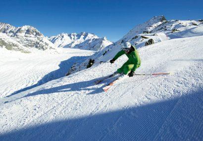 Sciare in Svizzera, neve al top