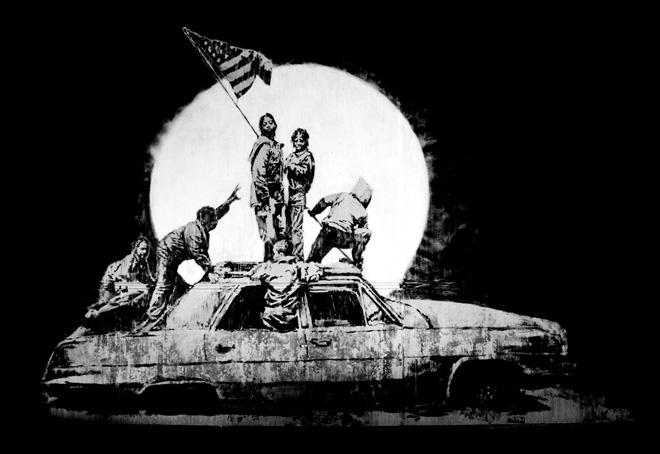 Banksy-2007-Flags-screenprint