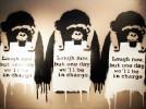 """Guerra, capitalismo e libertà"". Banksy sbarca a Roma"