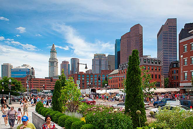 Il Rose Kennedy Greenway a Boston