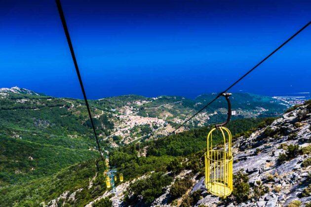 La teleferica tra Marciana e monte Capanne, Isola d'Elba