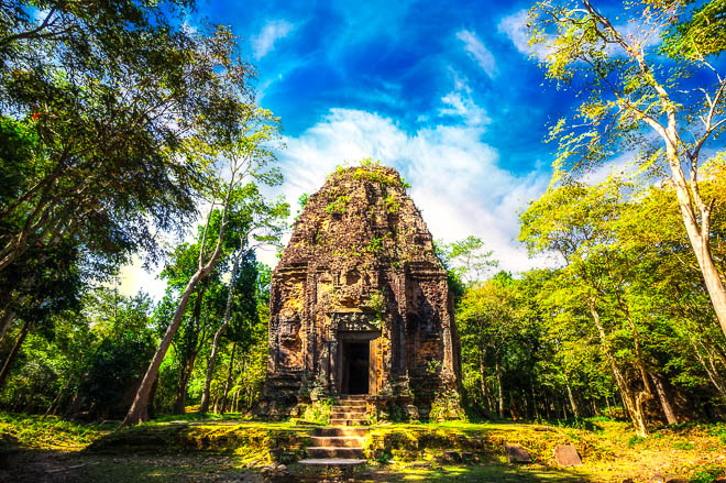 I resti del Tempio Sambor Prei Kuk