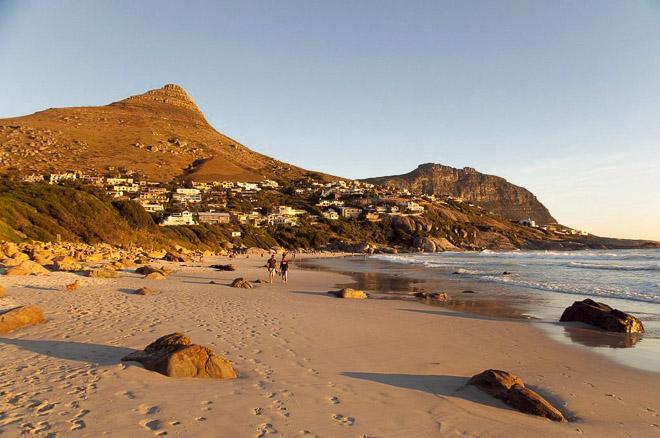 Una spiaggia nei dintorni di Città del Capo