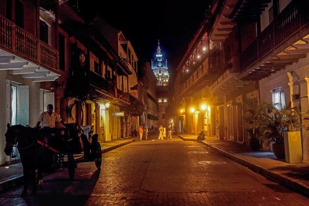 Cartagena de Indias di notte