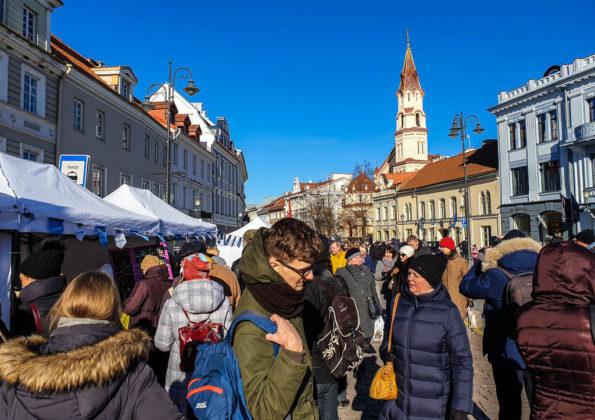 Vilnius Festa di San Casimiro Bancarelle