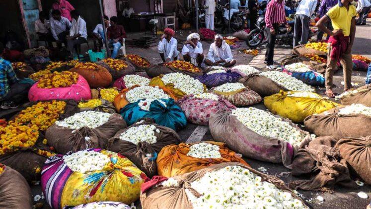 Flower Market a Jaipur