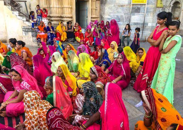 India-donne-sari-colorati