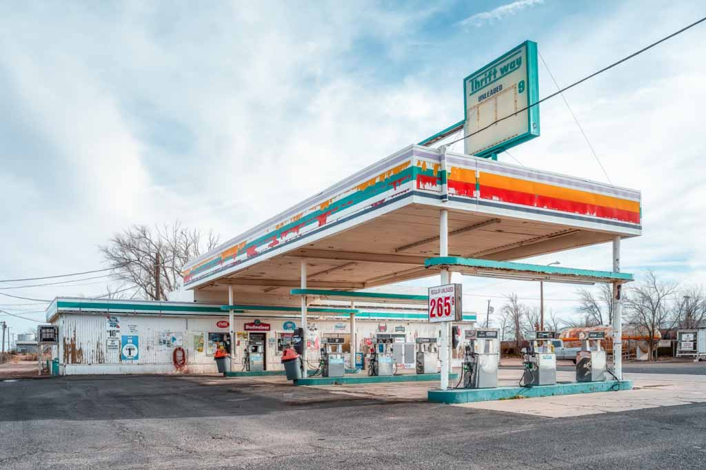 "Swee Choo Oh, ""Old Gas Station Arizona"""