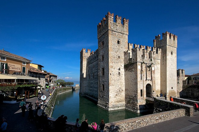 Italy, Garda Lake, Sirmione, the Castle