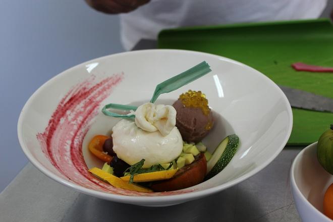 Gelateria Geronimi, Sagone, gelato alle olive nere e caviale di olio Evo