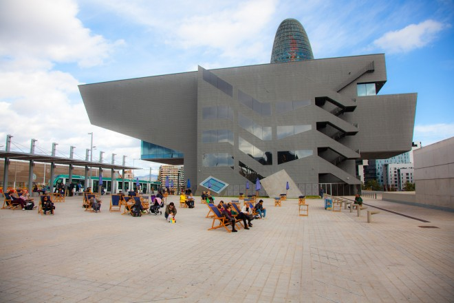 Spagna, Barcellona, Spain, Barcelona, Torre Agbar e Museu del Disseny