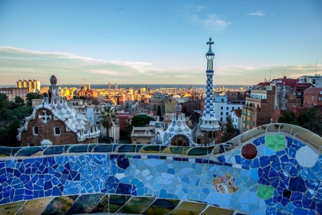 Spagna, Barcellona, Spain, Barcelona, Park Guell di Antoni Gaudì