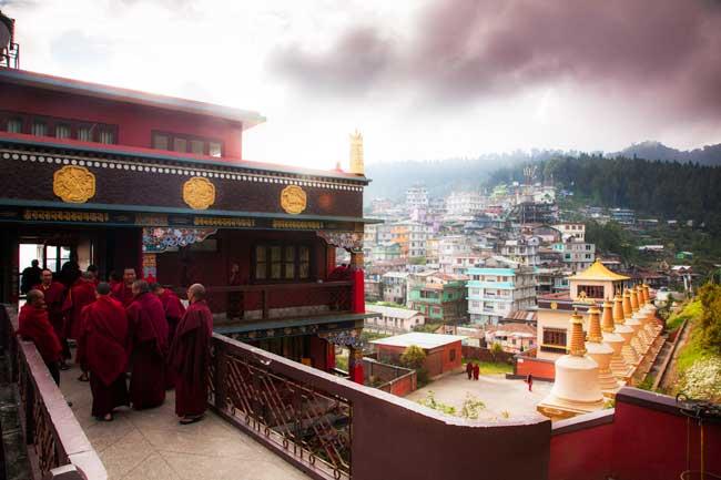 Il monastero buddista Durpin Gumpa a Kalimpong