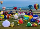 Francia,raduno di mongolfiere a Chambley