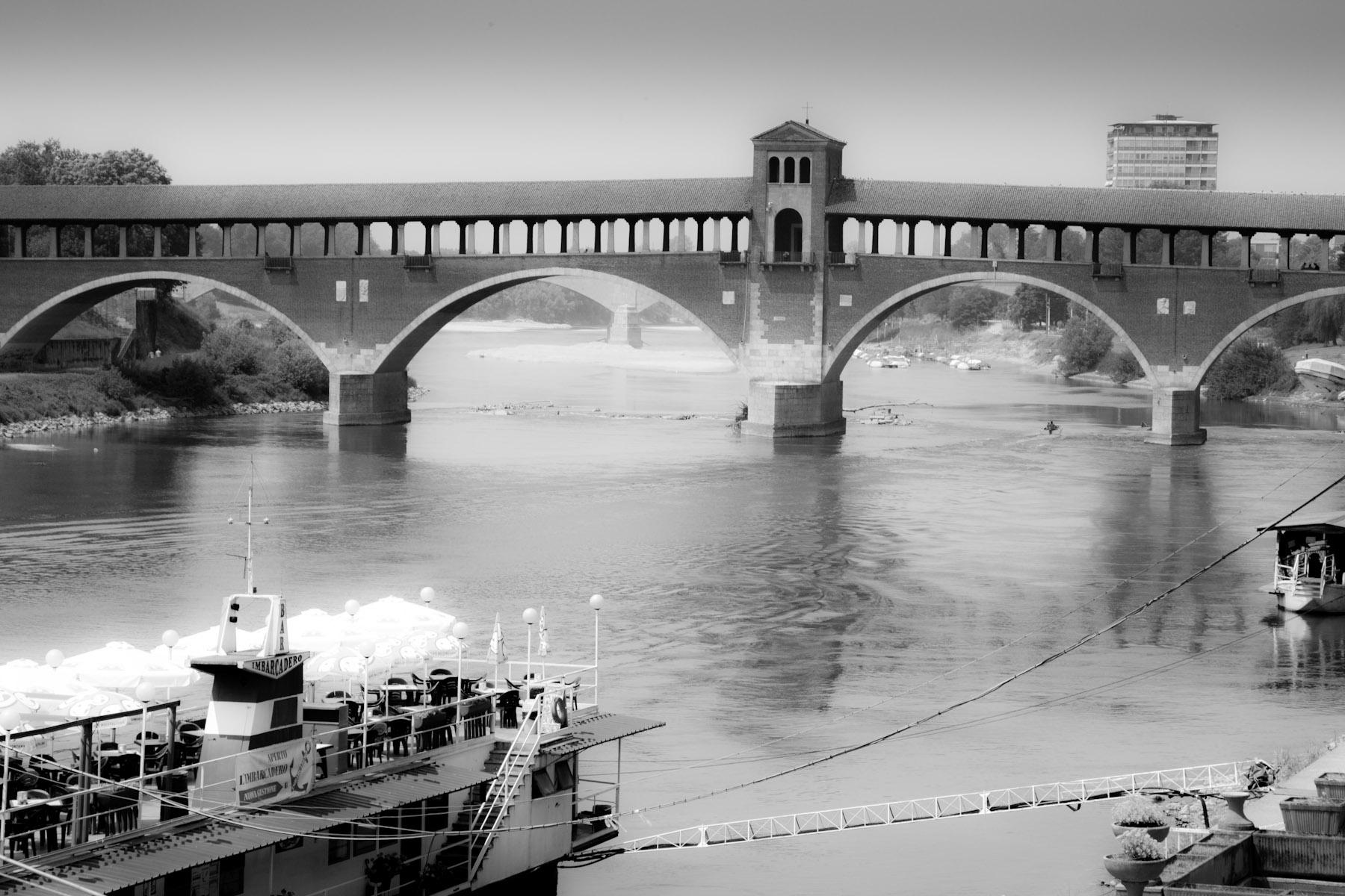 Il ponte Coperto a Pavia, emblema della città. Credit ©Eugenio Bersani