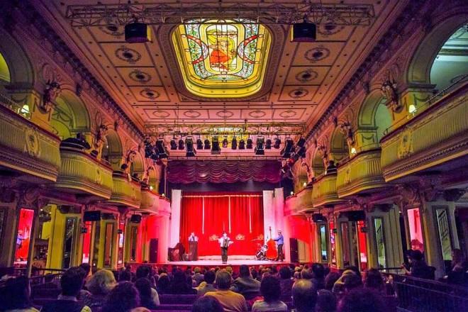 Il Salone Margherita durante lo spettacolo