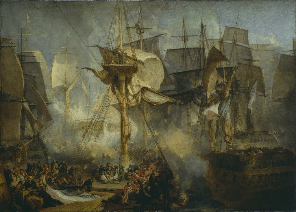 JMW Turner - The Battle of Trafalgar, as Seen from the Mizen Starboard Shrouds of the Victory 1806–8, Tate