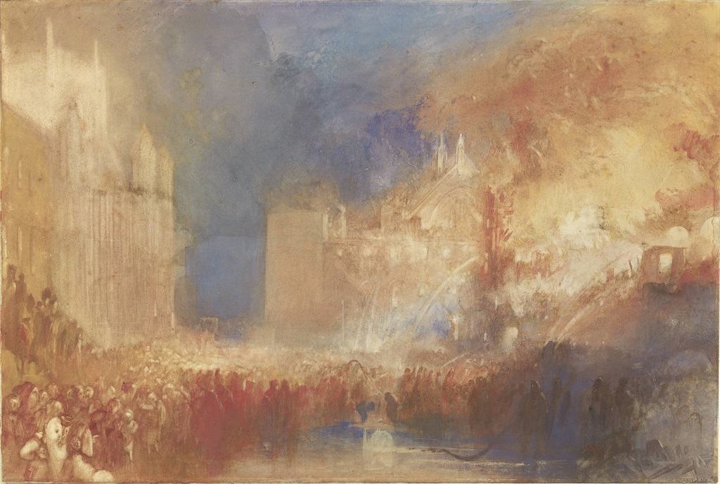 JMW Turner - The Burning of the Houses of Parliament c.1834-5 Tate.72