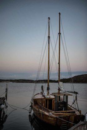 Barca nel porto di Grebbestad