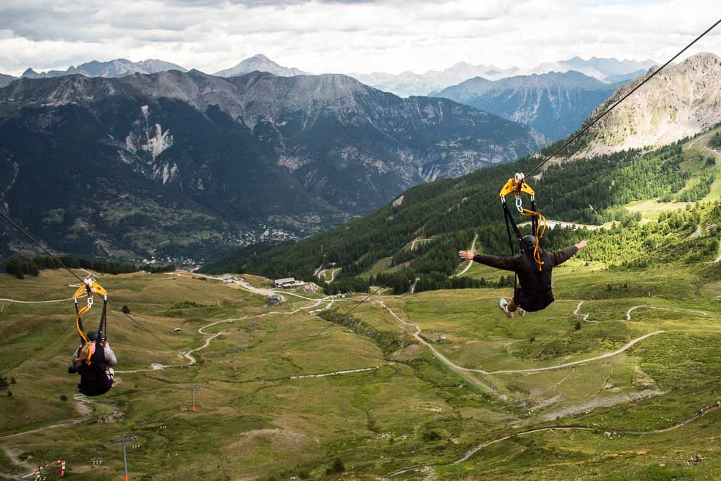 zipline più alta europa serre chevalier