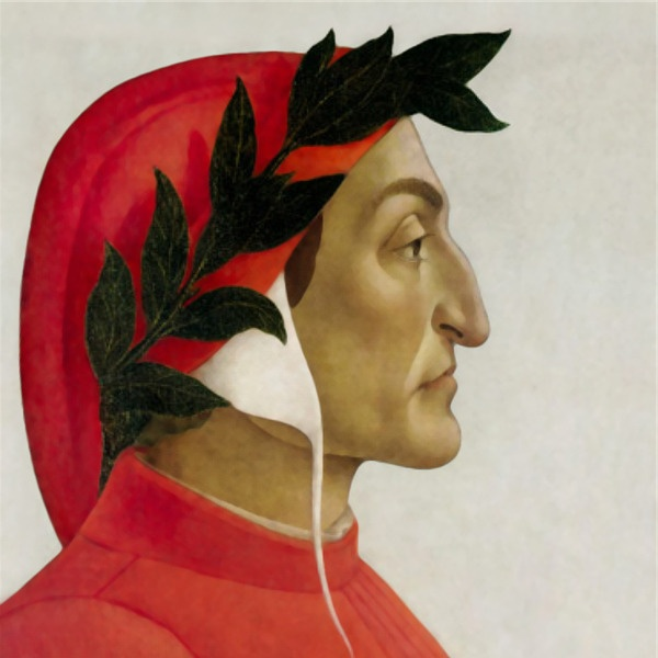 L'immagine classica di Durante degli Alighieri, detto Dante