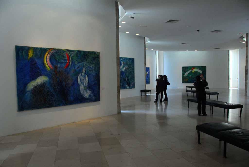 L'interno del Musee Chagall