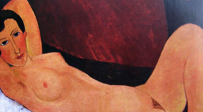 Amedeo Modigliani Grande nudo disteso - Celine Howard 1918 circa Olio su tela, 65 x 100 cm Collezione privata