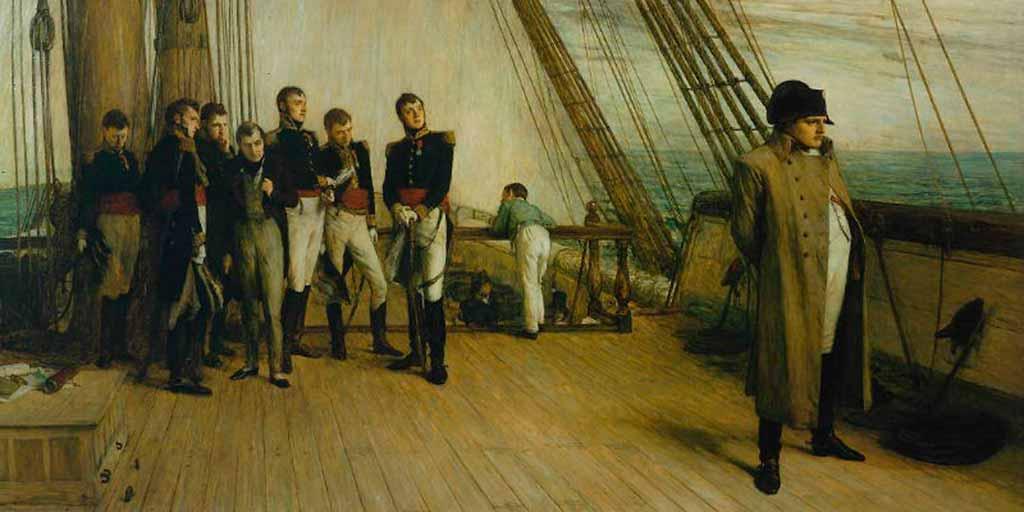 Napoleone-in-viaggio-verso-Sant'Elena