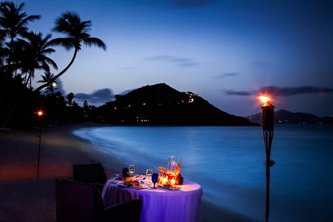 Romantic Dinner on Deadman's beach on PETER ISLAND