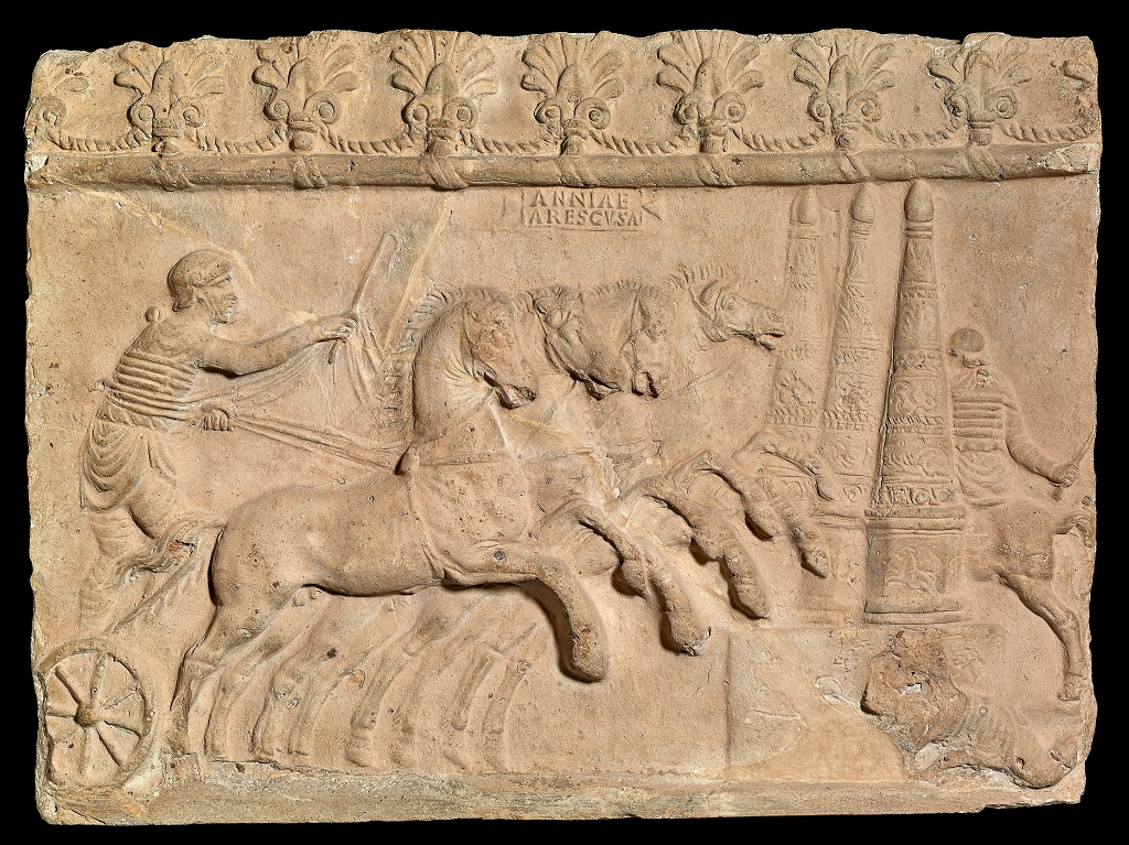 bassorilievo terracotta corsa di carri british museum