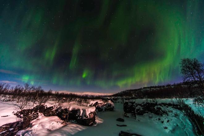 Aurora borealis, Abisko National Park, Sweden.