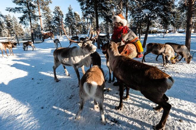 Nutti Sami village, Jukkasjarvi, Sweden