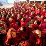 Giovani monaci buddisti presso il monastero di Geerdeng © Angela Prati