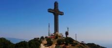Skopje. Sulla croce più alta del mondo