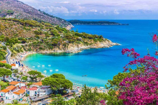 Veduta della spiaggia di Cavoli, Isola d'Elba