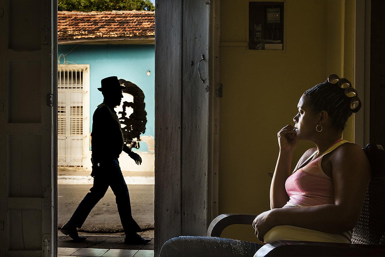 Cuba, Trinidad: murale di Che Guevara in calle camilo cienfuegos. Foto di Vittorio Sciosia