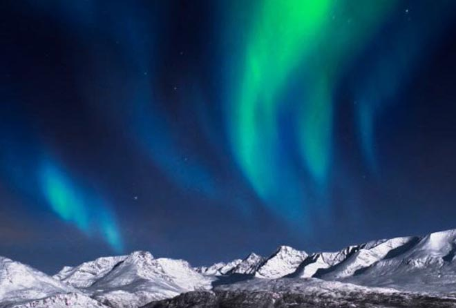 L'aurora boreale a Tromso Norvegia