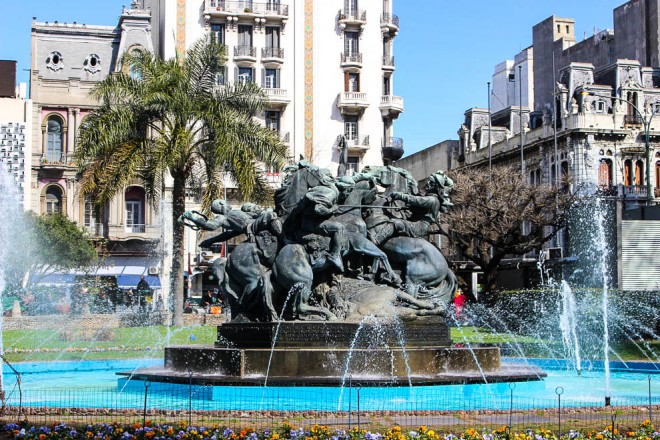 Una fontana di Montevideo