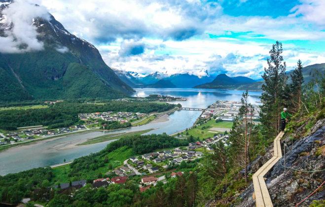 Via Ferrata, Åndalsnes, Norvegia