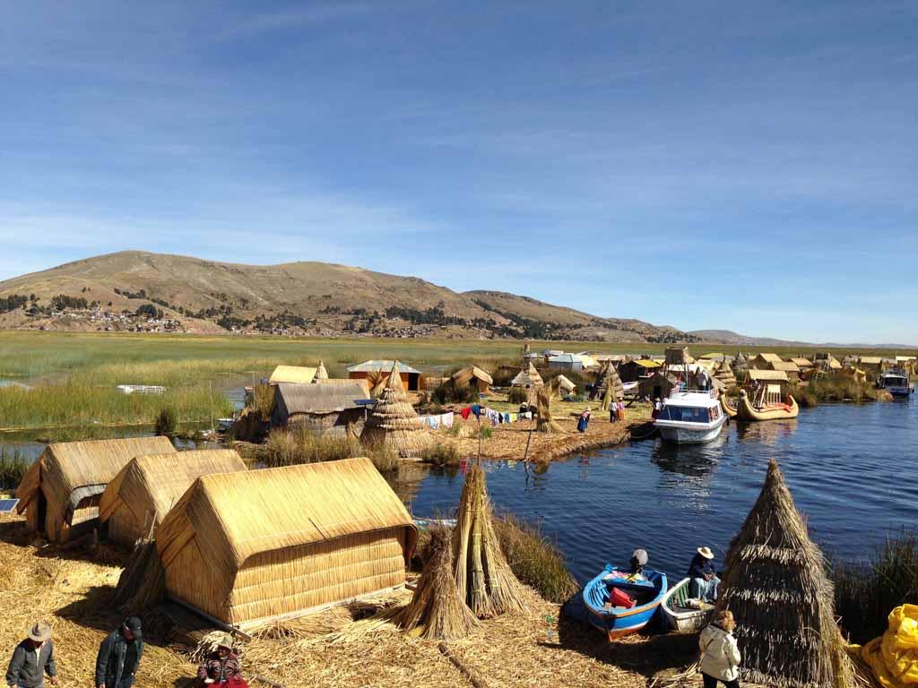 Case galleggianti degli Uros sul Lago Titicaca
